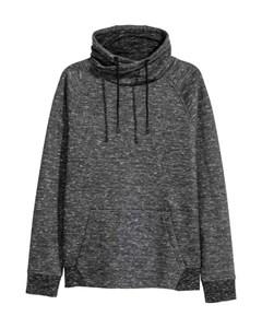 Funnel-collar Sweatshirt Black