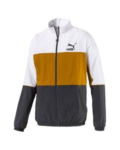 Retro Woven Track Jacket Gray