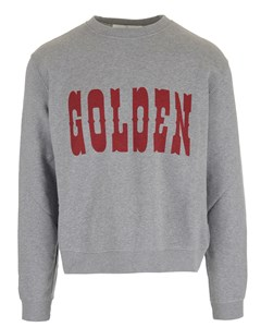 Golden Logo Sweat Red
