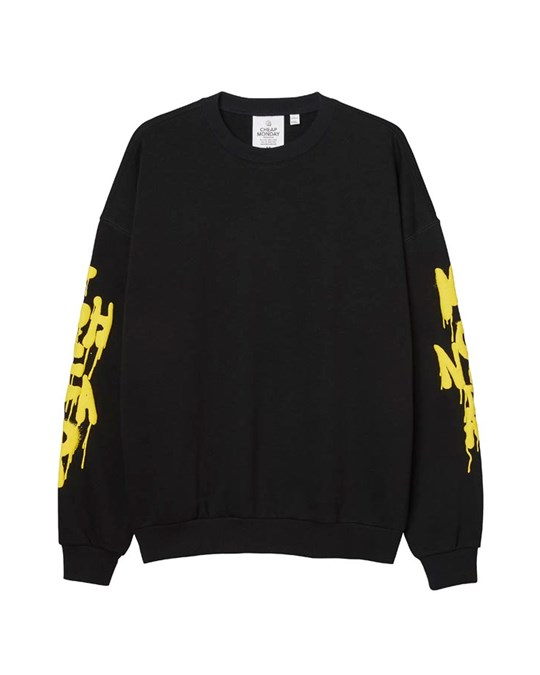 Cheap Monday Goal Sweatshirt Drip Sadly Black