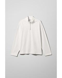 Tobias Half Zip Sweatshirt White