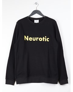 Aw18 Keaton Sweatshirt W.long Sleeves And Print - Black