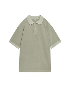 Garment-dyed Polo Shirt Khaki Green