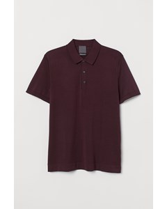 Polo S/s Highline Burgundy