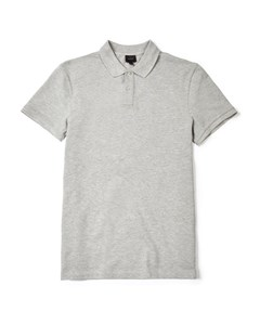 Walden Cotton Pique Polo Shirt Mid Grey Melange