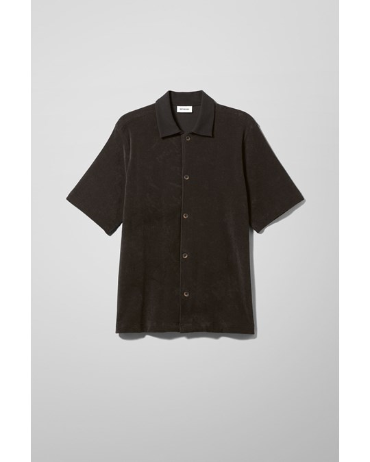 Weekday Gilbert Shortsleeve Shirt Black