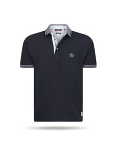 Pierre Cardin Grey Tipped Polo Schwarz