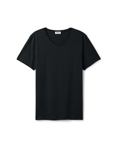 Dark V-neck T-shirt Black