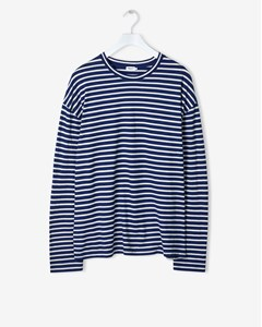 M. Striped Long Sleeve Aquatic/bo