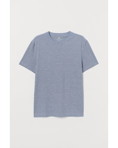 R-neck Basic Fit Fancy Blue