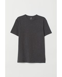 R-neck Ss Slim Fit Dark Grey