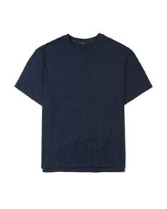 Albion Slub Jersey Crew Neck T-shirt Navy