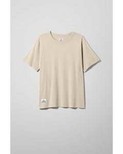 L Crewneck T-shirt Beige