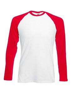 Fruit Of The Loom Mens Long Sleeve Baseball T-shirt
