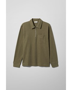 Nilo Half Zip Long Sleeve Khaki