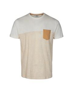 6204105, T-shirt - Hal Stripe Ss Curds & Wh