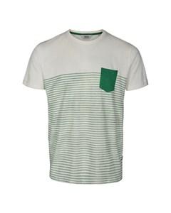 6204105, T-shirt - Hal Stripe Ss Bottle Gre