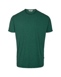 6204150, T-shirt - Fablin Ss Stripe Huntergree