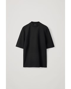 Boxy Mock-neck Top Black
