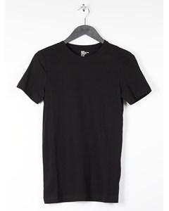 Round-neck T-shirt Slim Fit Black