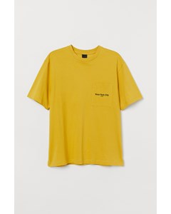T-shirt I Bomull Gul