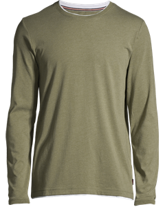 Men's T-shirt Long Sleeve, Khaki Green