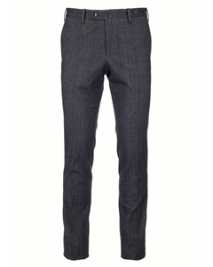 Check Suit Trousers Navy/burgundy