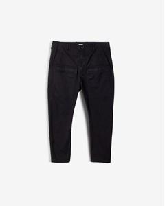 M. Arek Cropped Garment Dyed C Black