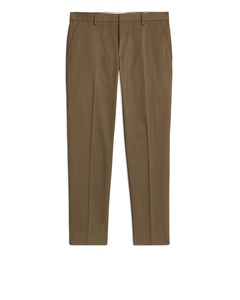 Cotton Blendtrouser Trousers Beige