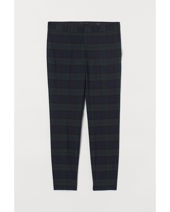 H&M Amy Skinny Check Trs Green