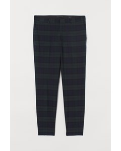 Amy Skinny Check Trs Green