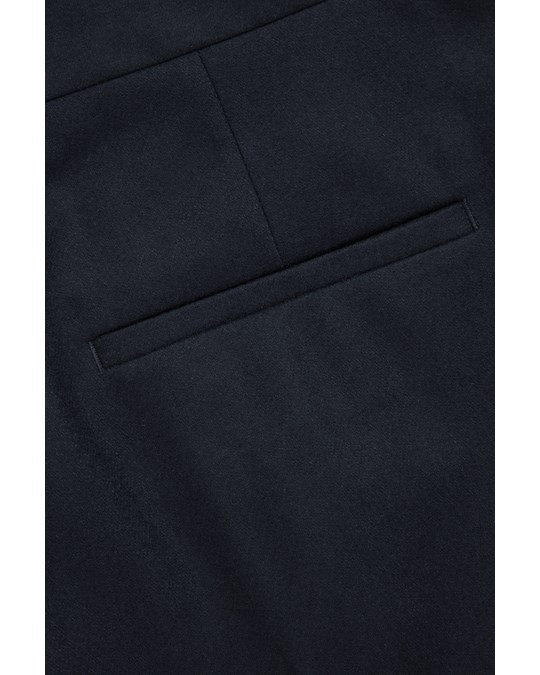 COS Straight Wool-cashmere Trousers Navy
