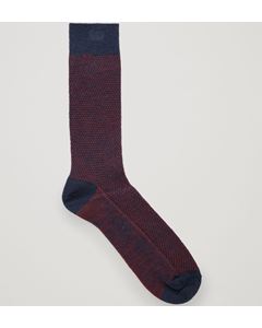 Textured Sock Blue