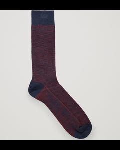 Textured Sock Blue