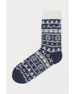 1pk Boot Sock Blue