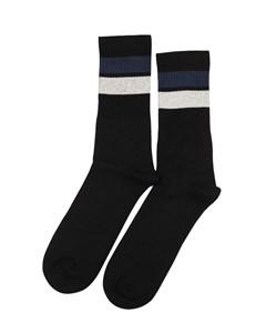 Democratique Socks Athletique Classique Stripes Black / Navy / Off White Black / Navy / Off White