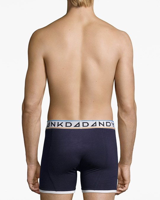 Frank Dandy St Paul Bamboo Boxer Dark Navy/white