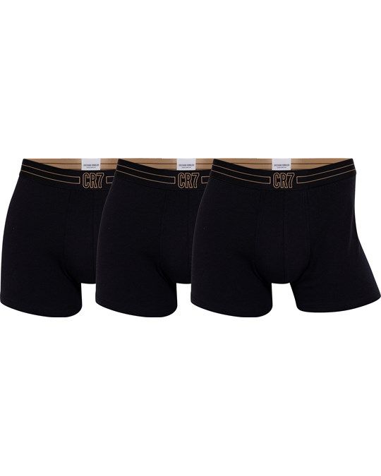 CR7 Cr7 Basic Trunk, 3-pack Black/black/black