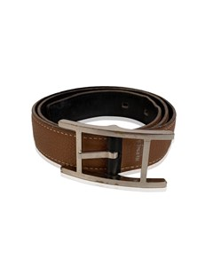 Hermes Black And Tan Leather Reversible Hapi Belt Size 70