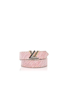Louis Vuitton Epi Denim Twist Belt Red