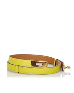 Hermes Epsom Kelly Belt Yellow