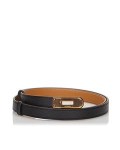 Hermes Epsom Kelly Belt Black