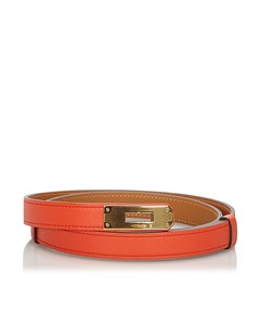 Hermes Epsom Kelly Belt Red