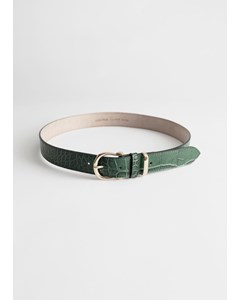 Belt Croco Green