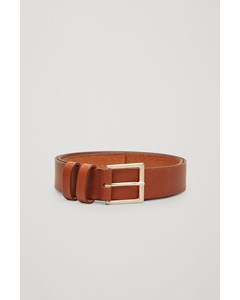 Miranda 2 Basic Leather Belt Beige
