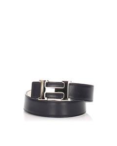 Hermes Constance Leather Belt Black