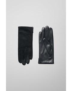 Vent Leather Gloves Black