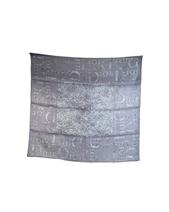 Christian Dior Light Blue Angora And Wool Square Scarf 65 Cm