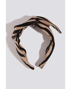 Zebra Hair Circlet Beige/black