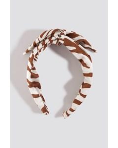 Zebra Hair Circlet Terracotta